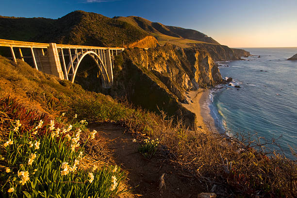 USA, California, Big Sur, Bixby Bridge and coastline:スマホ壁紙(壁紙.com)