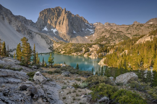 インヨー国有林「USA, California, Inyo National Forest, Temple Crag and Second Lake」:スマホ壁紙(9)