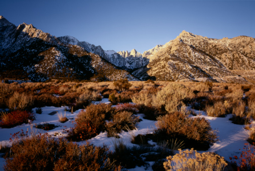 Inyo National Forest「USA, California, Inyo National Forest, Mt. Whitney, dawn」:スマホ壁紙(19)