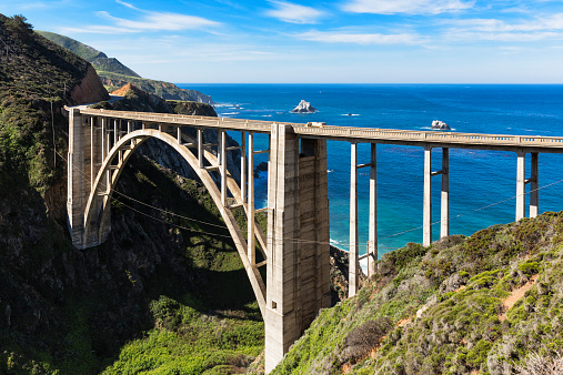Big Sur「USA, California, Pacific Coast, National Scenic Byway, Big Sur, Bixby Creek Bridge, California State Route 1, Highway 1」:スマホ壁紙(0)