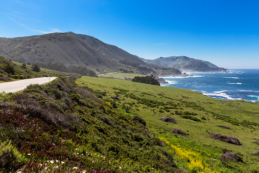 Big Sur「USA, California, Pacific Coast, National Scenic Byway, Big Sur, California State Route 1, Highway 1」:スマホ壁紙(16)