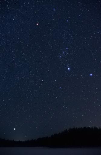 星空「Orion コンステレーションとシリウスライジング上地平線」:スマホ壁紙(13)