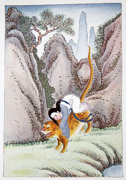 自然・風景「The Tiger Carries Off Miao Shan' 1922」:写真・画像(11)[壁紙.com]