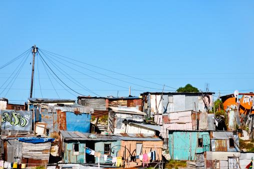 Slum「Informal settlement or shantytown outside Cape Town」:スマホ壁紙(9)