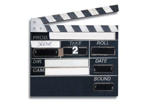 俳優「Take 2 clap board」:スマホ壁紙(16)