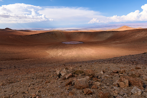 Atacama Region「Monturaqui crater in the Atacama Desert, Chile」:スマホ壁紙(1)