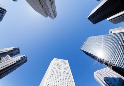 Looking Up「Tokyo Office Buildings」:スマホ壁紙(9)