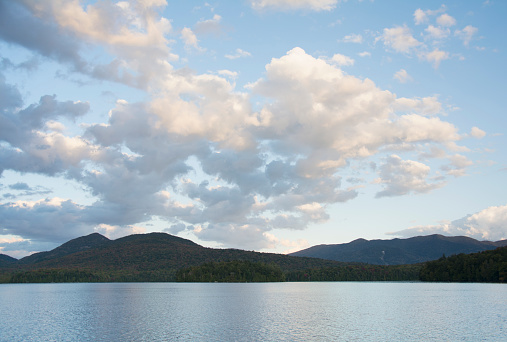 Adirondack Mountains「Early evening on Lake Placid」:スマホ壁紙(1)