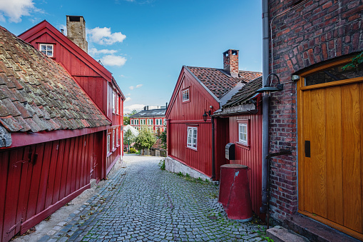 Medieval「Oslo Damstredet Street Wooden Houses Old Town Norway」:スマホ壁紙(19)