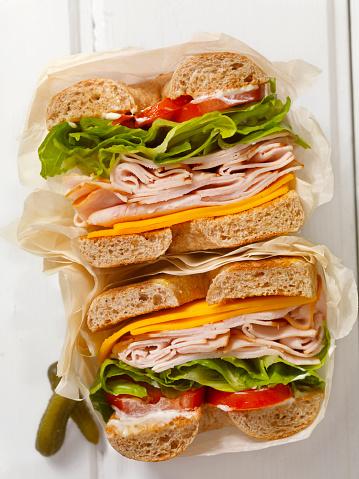 Toasted Food「Deli Style Turkey Bagel Sandwich」:スマホ壁紙(4)