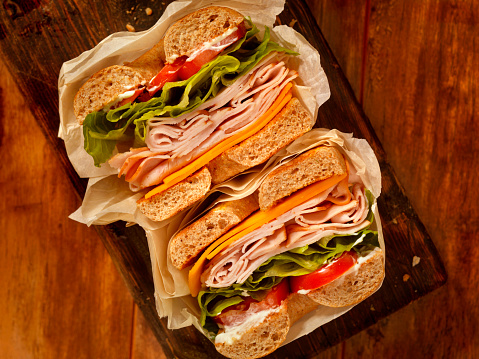 Sandwich「Deli Style Turkey Bagel Sandwich」:スマホ壁紙(14)