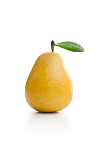 白梨「Yellow pear on the white background」:スマホ壁紙(12)