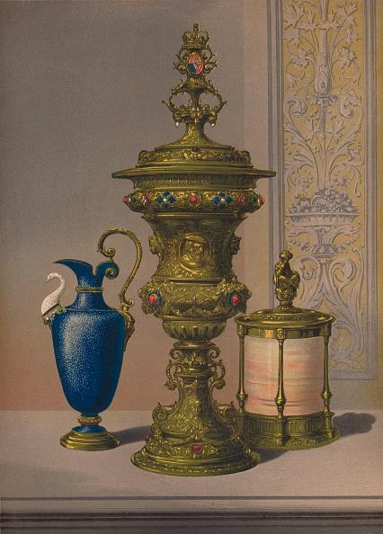 Costume Jewelry「Silver Gilt & Jewelled Vase Porcelain Vase Cigar Casket 1863」:写真・画像(6)[壁紙.com]
