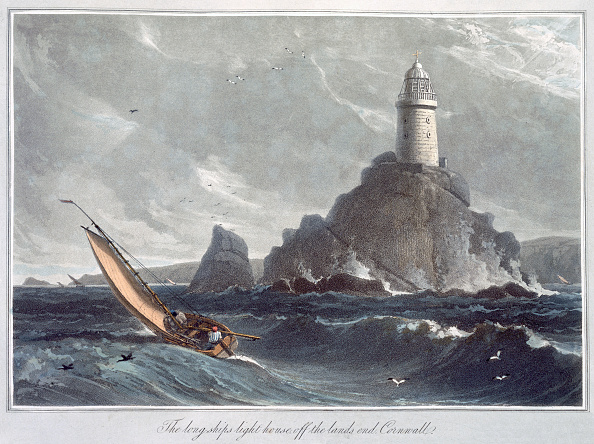 Lands End - Cornwall「The Longships Lighthouse Off The Lands End Cornwall' 1814」:写真・画像(18)[壁紙.com]