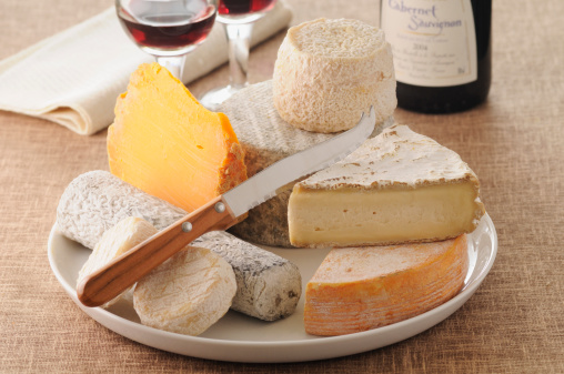 French Food「Cheese plate with wine」:スマホ壁紙(8)