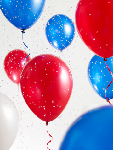 Election「Red White and Blue Balloons with Confetti」:スマホ壁紙(8)