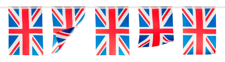 Bunting「Red, white and blue union jack bunting on white background」:スマホ壁紙(15)