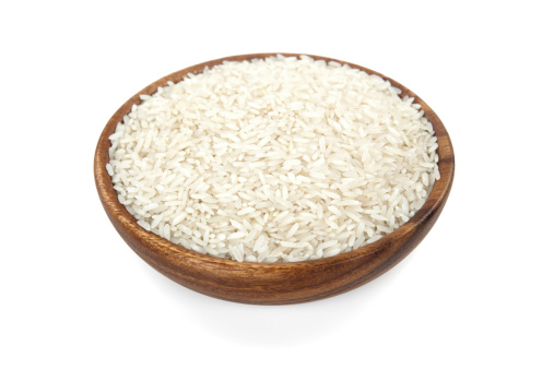 Basmati Rice「Rice in a wooden bowl」:スマホ壁紙(3)