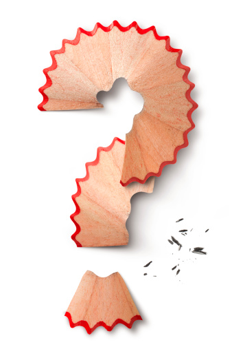 Lead「Question mark made with pencil shavings」:スマホ壁紙(14)