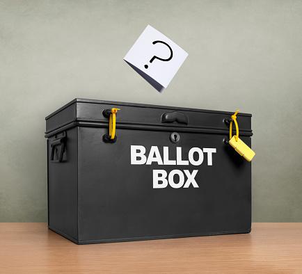 Voting Ballot「Question mark at the ballot box」:スマホ壁紙(11)
