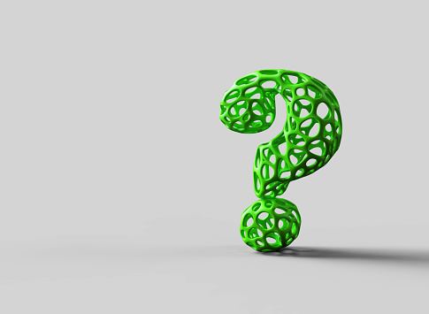 Asking「Question mark  green」:スマホ壁紙(10)