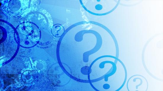 Asking「Question marks on blue gradient」:スマホ壁紙(16)