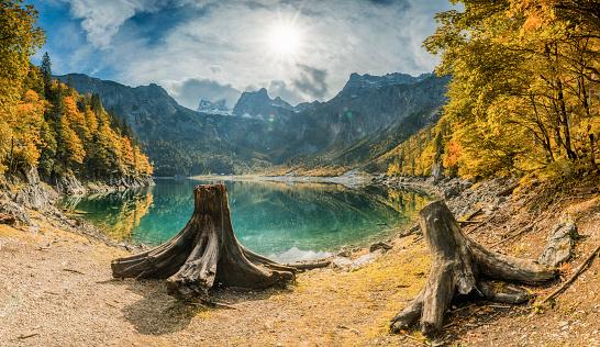 Dachstein Mountains「Upper Gosausee - Nature Reserve Austria」:スマホ壁紙(2)