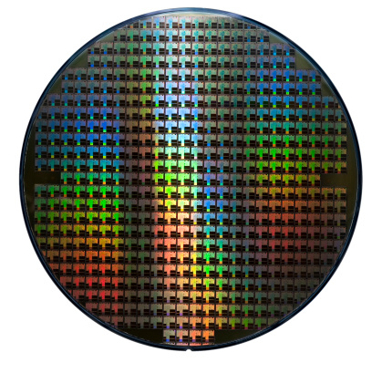 Electronics Industry「Computer wafer showing rainbow color patterns」:スマホ壁紙(4)