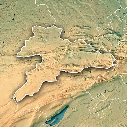 Map「ジュラのカントン スイス連邦共和国 3 D のレンダリングの地形マップの枠線」:スマホ壁紙(12)