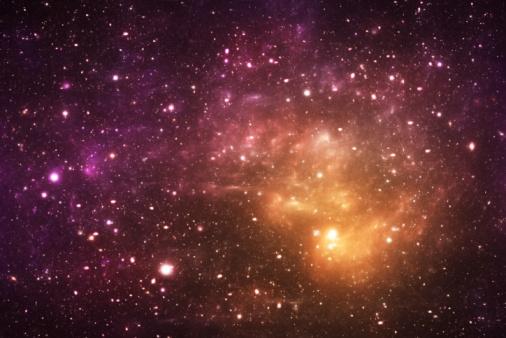星空「黄色の galaxy」:スマホ壁紙(18)