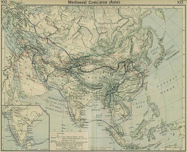 Silk Road「Medieval Commerce (Asia). From The Historical Atlas. Artist: Shepherd, William Robert (1871-1934)」:写真・画像(13)[壁紙.com]