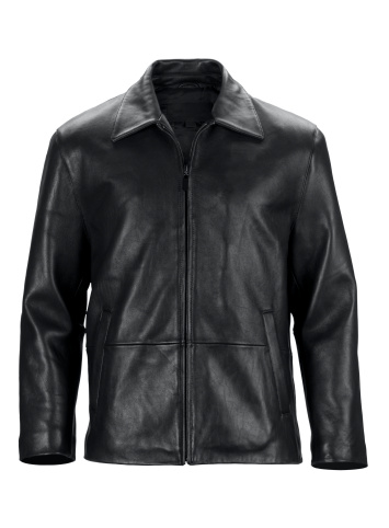 Black Color「Front of black leather jacket-isolated on white w/clipping path」:スマホ壁紙(2)