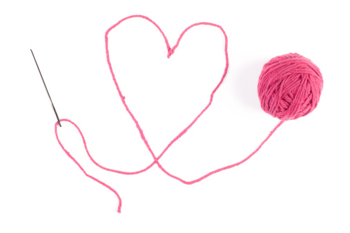 Sewing「Yarn Heart」:スマホ壁紙(2)
