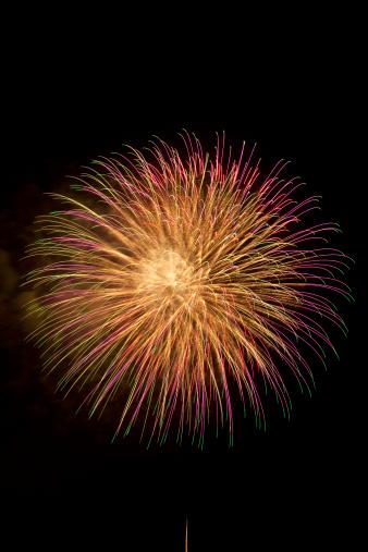 Lake Kawaguchiko「Fireworks」:スマホ壁紙(17)