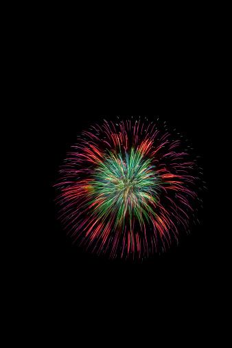 Lake Kawaguchiko「Fireworks」:スマホ壁紙(19)