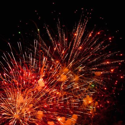 Lunar New Year;「Fireworks」:スマホ壁紙(14)