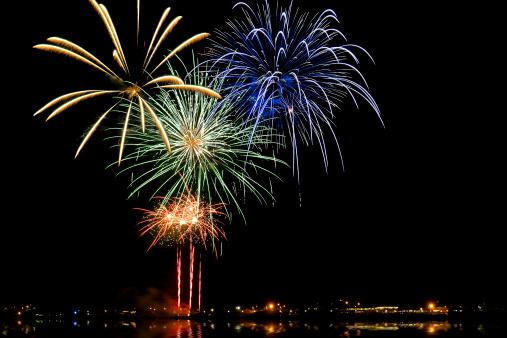 New Year「Fireworks」:スマホ壁紙(1)