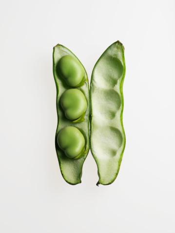 Bean「Broad bean against white background, close-up」:スマホ壁紙(5)