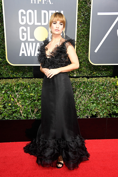 Lily James「75th Annual Golden Globe Awards - Arrivals」:写真・画像(17)[壁紙.com]