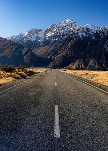 Mt Cook「Tasman Valley Road In New Zealand's Mt Cook National Park」:スマホ壁紙(6)
