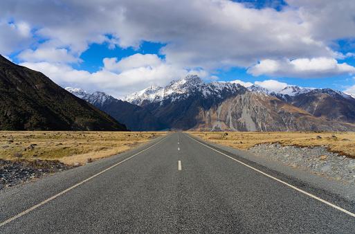 Mt Cook「Tasman Valley Road In New Zealand's Mt Cook National Park」:スマホ壁紙(18)