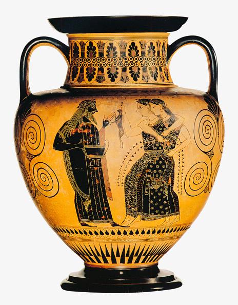 Black-Figure Ceramics「Dionysus And Two Maenads. Attic Black-Figured Amphora」:写真・画像(3)[壁紙.com]