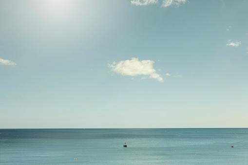 Southwest England「Boats on calm sea on a sunny days」:スマホ壁紙(12)