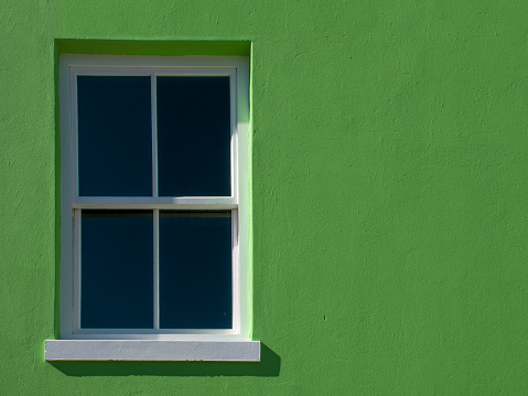 Malay Quarter「A window of a green Bo-Kaap house」:スマホ壁紙(1)