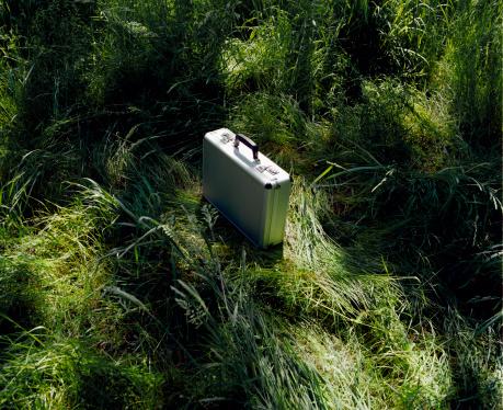 Briefcase「Grey briefcase on grass」:スマホ壁紙(16)