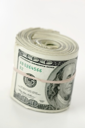 American One Hundred Dollar Bill「A roll of hundred dollar bills」:スマホ壁紙(6)