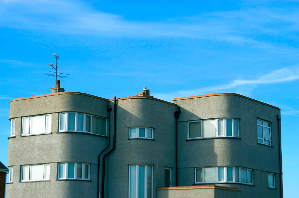 Finance and Economy「Art deco detached building, England, United Kingdom,」:写真・画像(5)[壁紙.com]