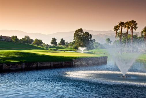 Water Hazard「Dawn at Golf Resort」:スマホ壁紙(6)