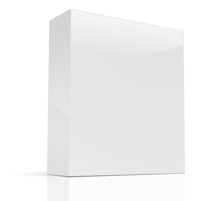 Package「Blank rectangular box standing up on a white background」:スマホ壁紙(8)