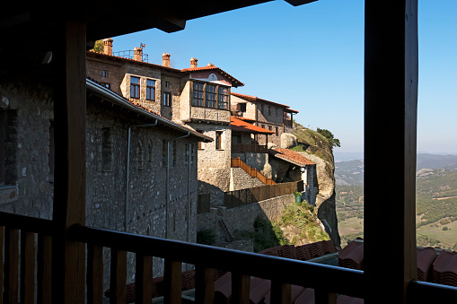 Thessaly「Grand Meteora, Monastery from balcony, Kalmbaka」:スマホ壁紙(13)